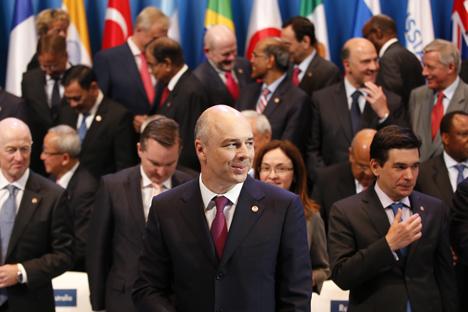 Antón Siluánov, ministro de finanzas de Rusia durante la cumbre del G20. Fuente: Reuters