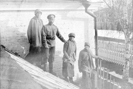 La familia Romanov en Tobolsk. Fuente: archivo