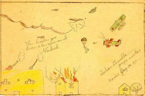 Uno de los dibujos de la exposición. Fuente: UA.