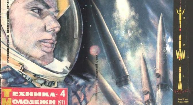 "Foto: capa da revista soviética ""Tékhnika Molodióji"""