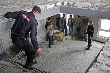 Este mes habido detenciones masivas y se han instalado campos de detención en las afueras de la capital. Fuente: Tatiana Kravtchenko/RG
