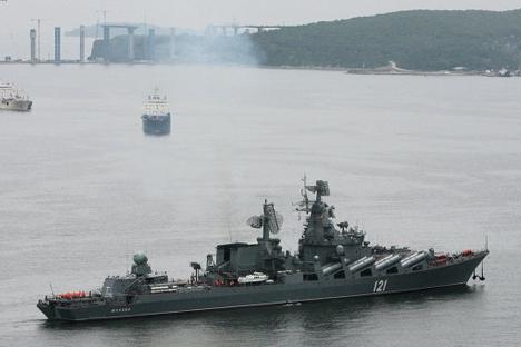 El buque de guerra ruso Moskva (Moscú). Fuente: Vitali Ankov / Ria Novosti