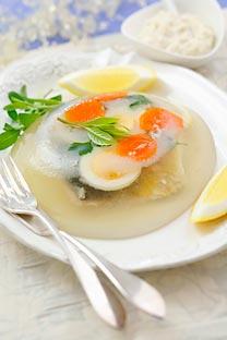 Descubre la receta del 'zalivnoye', la sabrosa gelatina de pescado. Fuente: SockFood/Fotodom
