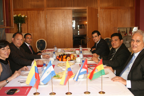 La cita se trataron las relaciones que cada uno mantiene con Rusia. Fuente: Embajada de la República Bolivariana de Venezuela.