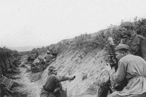 Las tropas soviéticas mostraron mucha más confianza en verano del 43 que en el del 41.Fuente: Photoshot.