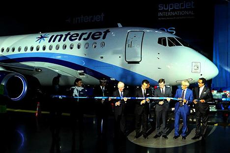 La aerolínea mexicana Interjet espera abrir nuevas rutas en toda la república con estas aeronaves rusas. Fuente: Servicio de prensa de Interjet
