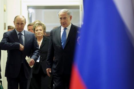 Vladímir Putin y Benjamín Netanyahu se reunieron en Moscú el pasado mes de mayo. Fuente: Reuters.