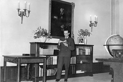 Paul Joseph Goebbels, político alemán, ministro de propaganda de la Alemania nacionalsocialista, figura clave en el régimen y amigo íntimo de Adolf Hitler. Fuente: Ullstein/Vostock-Photo