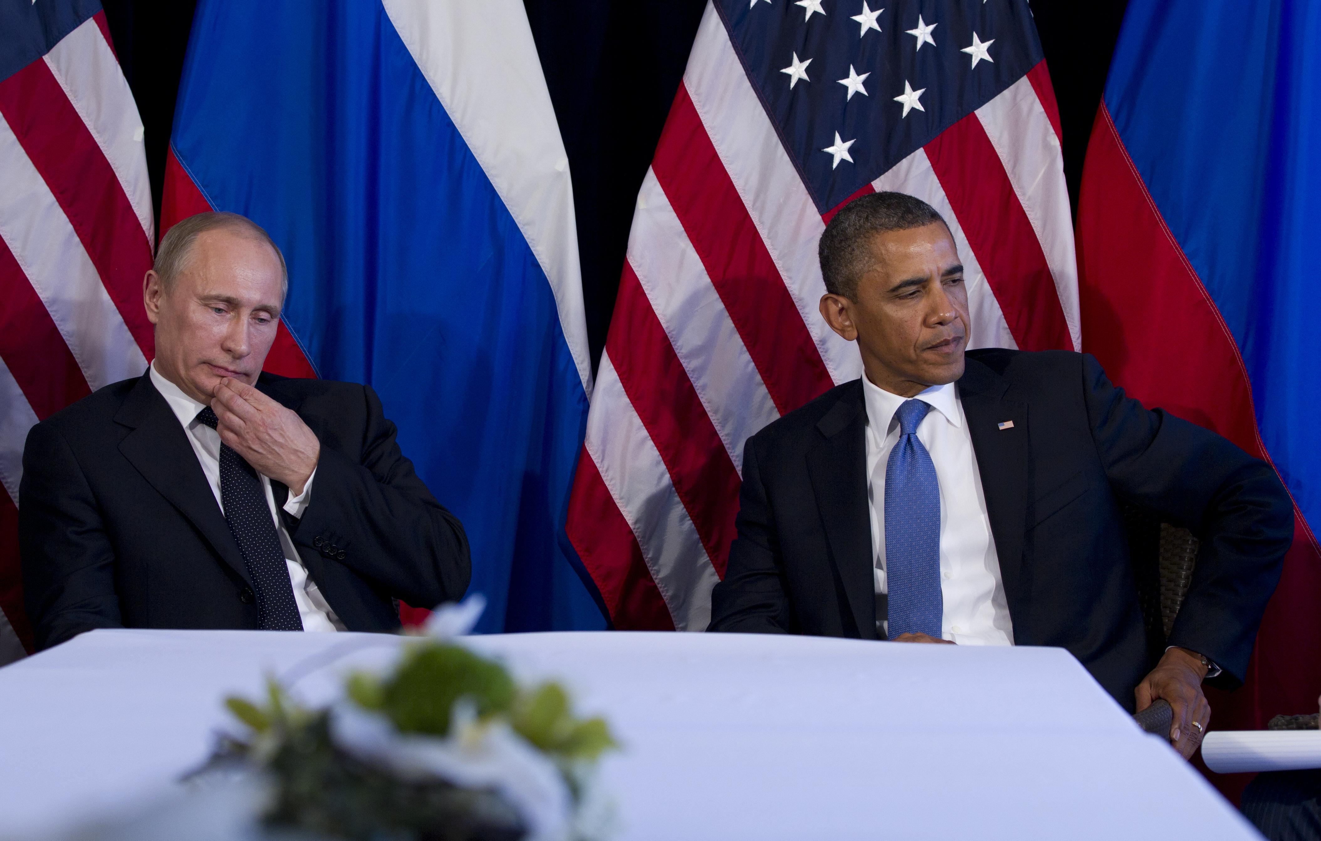 Putin y Obama durante la reunión en la cumbre del G20 en Los Cabos. Fuente: AP.