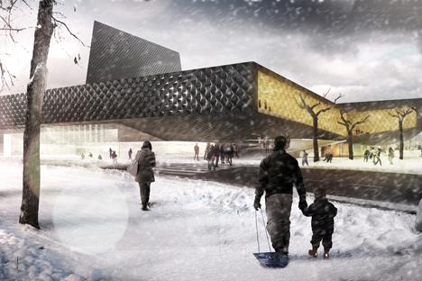Arquitectos valencianos proyectan un innovador palacio de deportes para la ciudad rusa. Fuente: servicio de prensa
