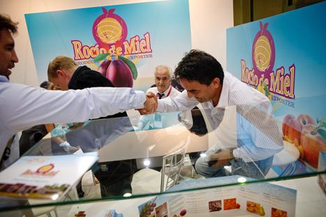 Buena parte de este optimismo para las perspectivas futuras del comercio argentino en Rusia se pudo ver reflejado en la feria World Food. Fuente: Ruslán Sujushin