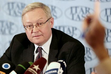 El viceministro de Asuntos Exteriores Serguéi Riabkov. Fuente: PhotoXPress.
