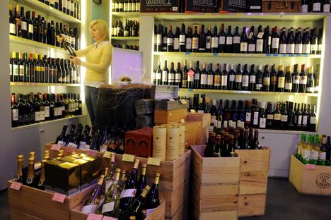 Vodca continua vencendo batalha pelos consumidores, já que seu preço é inferior ao dos vinhos importados Foto: ITAR-TASS