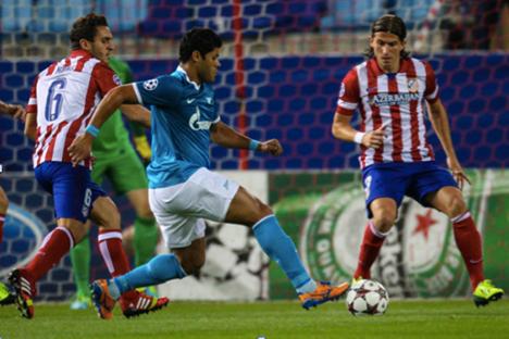 Apesar do gol de Hulk, Zenit não conseguiu evitar a derrota contra o Atlético Foto: fc-zenit.com