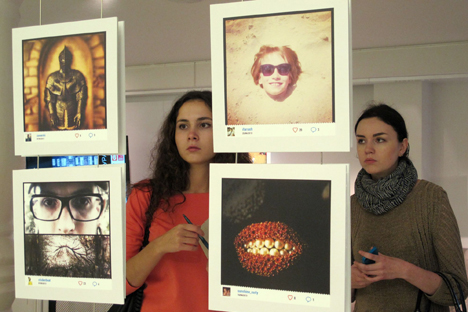 Apenas trabalhos de blogueiros da Rússia foram aceitos, mas o mundo inteiro está exposto Foto: Aleksandra Sópova