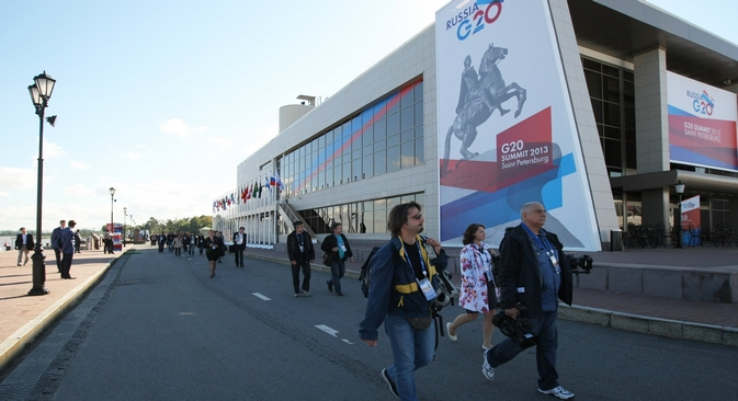Los países reunidos en San Petersburgo apuestan por tomar medidas globales para frenar los flujos de capital ilegales. Fuente: servicio de prensa del G20