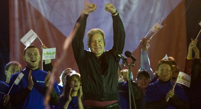 Em Moscou, apesar de uma taxa  de comparecimento às urnas inesperadamente baixa, cerca de 33%, o  candidato governista e prefeito em exercício Serguêi Sobiânin obteve um  percentual dos votos suficiente para vencer já no primeiro turno Foto: Reuters