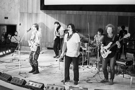 "Konzert der Band ""Akwarium"". Foto: RIA Novosti"