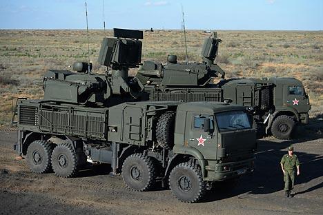 Bateria com seis Pantsir-S1 é capaz de destruir 24 alvos ao mesmo tempo Foto: RIA Nóvosti