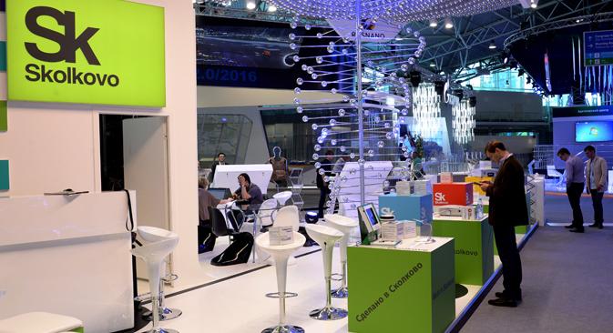 Auf einer Podiumsdiskussion diskutierten Wirtschaftsexperten, ob Russland sich zu einem führenden Hightech-Exporteur entwickeln kann. Foto: RIA Novosti