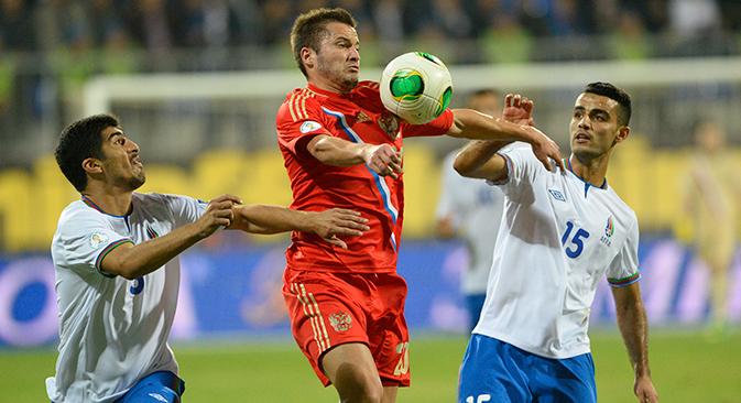 Depois do empate com o Azerbaidjão, a equipe russa garantiu sua presença na Copa do Rio Foto: Mikhail Sinitsin / RG)