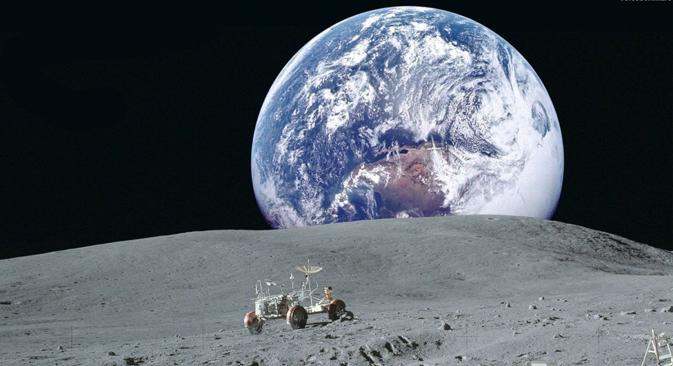Pretende construir una estación habitable. El objetivo es poder explotar el satélite para satisfacer las demandas energéticas de la Tierra. Fuente: NASA