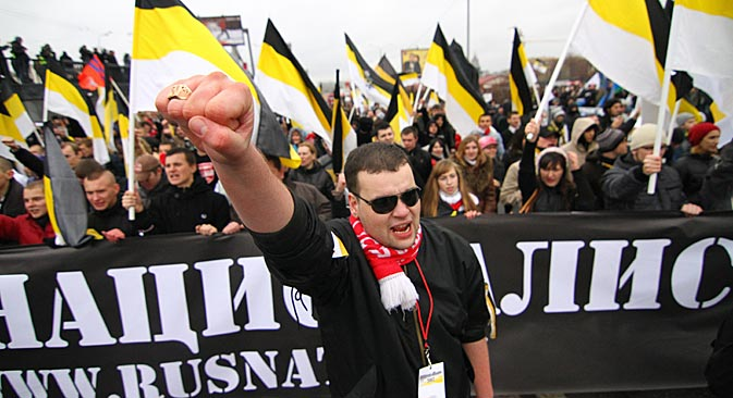 La conocida como Marcha Rusa se celebra cada 4 de noviembre, Día de la Unidad Nacional. Los organizadores esperan reunir 30.000 personas. Fuente: ITAR-TASS