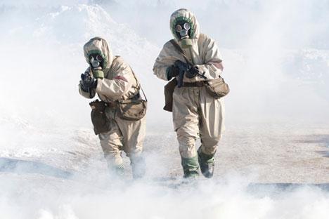 Atualmente, o arsenal de armas químicas sírio consiste de estoques de gás de mostarda, sarin e gases tóxicos extremamente poderosos Foto: Pável Lissits/RIA Nóvosti