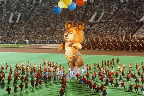 Misha, la mascota de los Juegos Olímpicos de Moscú de 1980. Fuente: Serguéi Gunéev / Ria Novosti