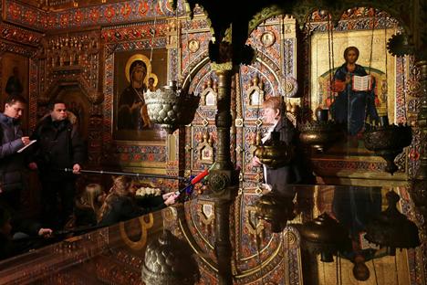 Cuenta con una creciente influencia en la política estatal. El metropolita Ilarión Volokolamski cuenta el papel que desempeña. Fuente: ITAR-TASS