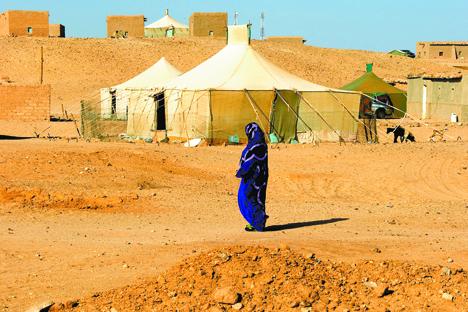 Campo de refugiados saharaui. Fuente: Valeria Saccone