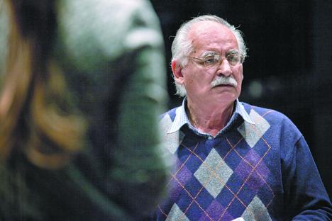 Raúl Rodríguez, durante los ensayos. Fuente: Ricardo Marquina