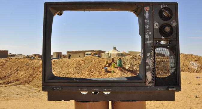Los saharauis Ghali Zuber y Mohamed Salek cuentan su estancia en Rusia en 1990 y las razones por las que vivieron allí durante más de una década. Fuente: Valeria Saccone