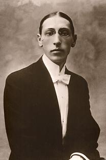 Ígor Stravinski en el año 1910. Fuente: wikipedia