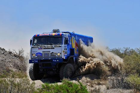 El camión de Kamaz durante Rally Dakar 2014. Fuente: servicio de prensa