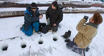 La pesca en hielo en Rusia