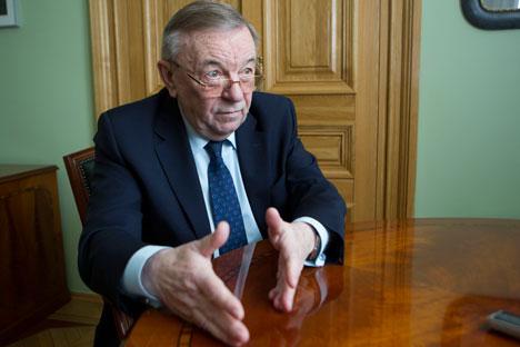 Vladímir Shevchenko, que dirigió el servicio con Mijaíl Gorbachov y Borís Yeltsin, habla de su experiencia con los mandatarios. Fuente: Serguéi Mijéev / RG