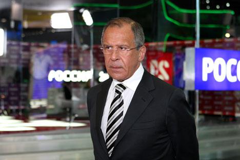 El ministro de Exteriores Serguéi Lavrov repasa los principales puntos de conflicto y acercamiento entre amos. Fuente: ITAR-TASS