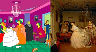 Los Simpsons reinterpretan 13 pinturas clásicas de Rusia