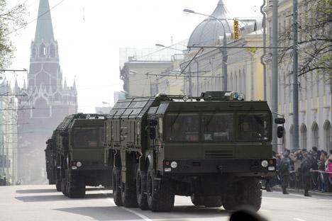 Os alvos convencionais do Iskander-M são os recursos de defesa antiaérea e antimísseis, aeroportos, instalações de infraestrutura Foto: RIA Nóvosti