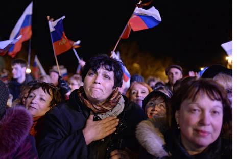 Referendum yang diselenggarakan pada 16 Maret 2014 menunjukkan bahwa 97 persen suara mendukung reunifikasi Krimea ke dalam wilayah Rusia.