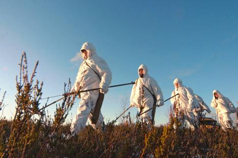 Quando foi criada a equipe de resgate na cidade de Obninsk , foram necessários desarmadores de bombas com certificado de desativação de minas Foto: RIA Nóvosti