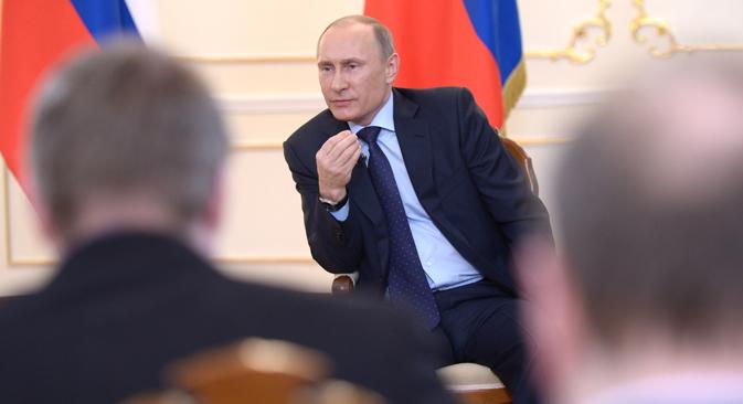 El presidente de Rusia rompe su silencio por primera vez desde el comienzo de la crisis. Fuente: Alekséi Nikolski / Ria Novosti