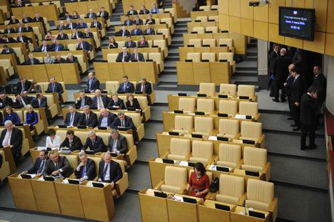 Se espera que los siguientes pasos en el proceso de anexión de Crimea se den en la Duma. Fuente: Ria Novosti / Grigoriy Sisoev