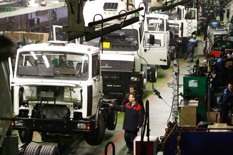 Rostec presentará los nuevos camiones Kamaz en FIDAE 2014. Fuente: Egor Eryomov/RIA Novosti