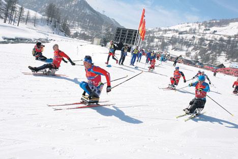 O maior número de medalhas (30 conjuntos) foi disputado no esqui alpino Foto: ITAR-TASS
