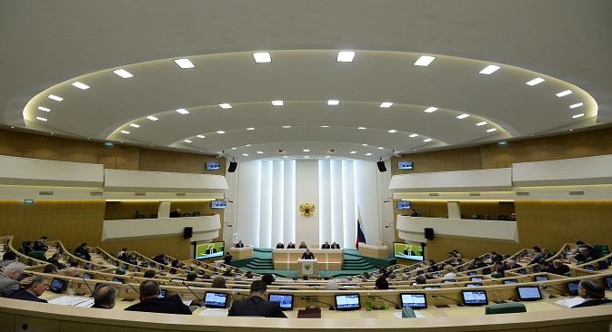 Vista del Consejo de la Federación de Rusia. Fuente: RIA Novosti.