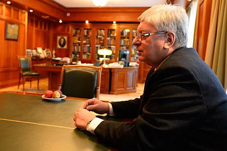 Anatoli Tokunov, el rector del MGIMO. Fuente: Mijaíl Sinitsin / RG