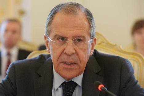 Serguéi Lavrov, ministro de Asuntos Exteriores de Rusia. Fuente: Ministerio de Asuntos Exteriores