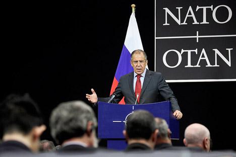 El ministro de Asuntos Exteriores Serguéi Lavrov. Fuente: AP